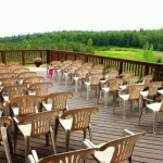 Chalet Outside Deck for Wedding
