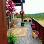Chalet Outside deck with flowers and wedding